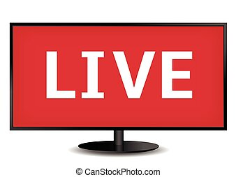 live tv tv live on air television live stream broadcast clip art search illustration. Black Bedroom Furniture Sets. Home Design Ideas