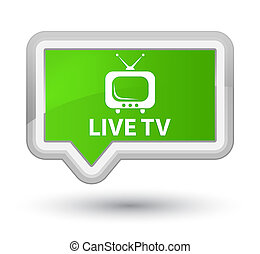 Live tv prime soft green banner button