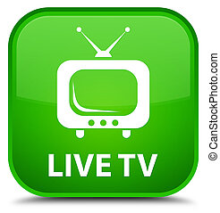 Live tv special green square button
