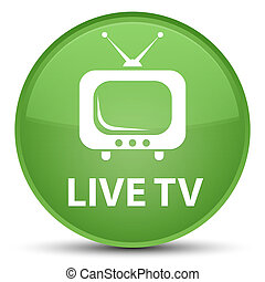Live tv special soft green round button