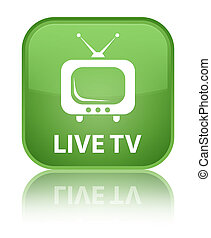 Live tv special soft green square button