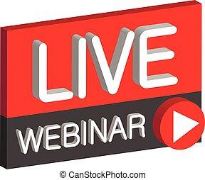 Live webinar 3D button