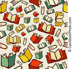 livelli, schizzo, vettore, eps10, conoscenza, concetto, modello, facile, organizzato, indietro, stile, fondo., editing., libri, seamless, file, scuola, disegnato, mano aperta