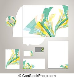 Lively Corporate Identity Vector - Set of corporate identity...
