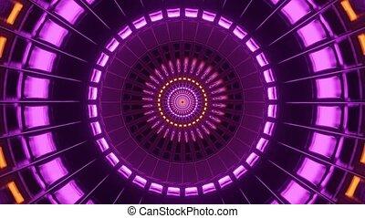 Creative Motion of Colorful Light Tunnel 4k uhd 3d rendering vj loop