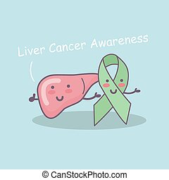 Liver cancer awareness concept