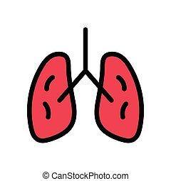 liver flat color icon