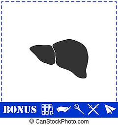 Liver icon flat