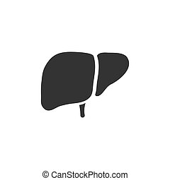 Liver icon on a white background