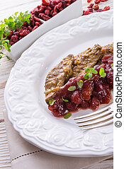 Liver with Cranberries