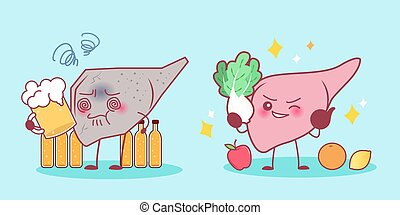 liver with health problem
