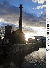 Liverpool Albert dock at dusk