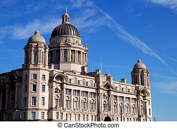 Historic building in the dock area of Liverpool England