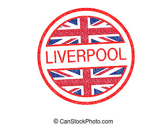 LIVERPOOL Rubber Stamp over a white background.