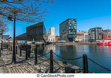 Liverpool Waterfront - A view of Liverpool's modern...