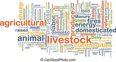Livestock background concept