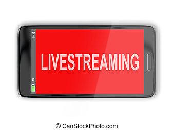 Livestreaming - media concept