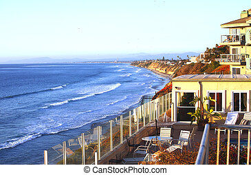 Living along the coastline, California. - Living dangerously...