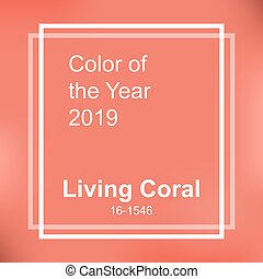 Living Coral color of the year 2019. Abstract background...