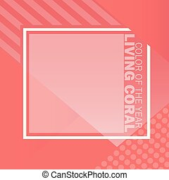 Living Coral color of the year. Color trend palette. Vector...