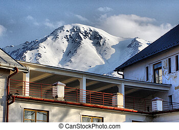 House under the mountains