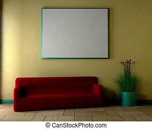Living room - 3D
