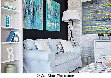 Living room design - Design of a modern living room...