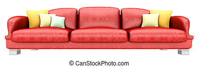 Living room furniture - A Sofa with a Table. 3D rendered ...