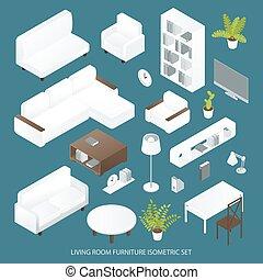 Living Room Furniture Isometric Set
