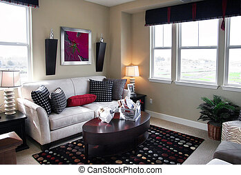 Living room - Home interior The picture on the wall is my ...