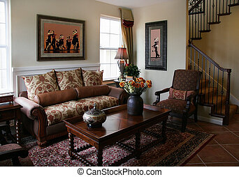 Living room - Home interior The pictures on the wall are my...