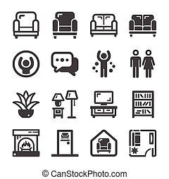 living room icon