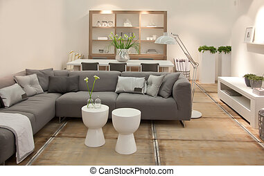living room in contemporary style