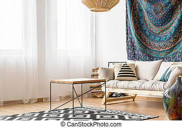 Living room in ethnic style