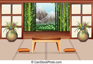 Living room in Japanese style
