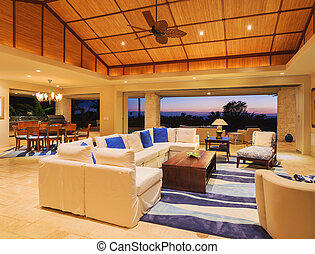 Living Room in Luxury Home