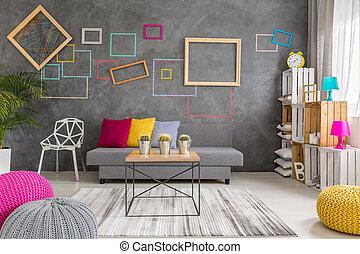 Living room in modern design