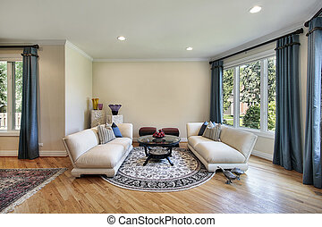 Living room in suburban home - Living room in luxury home ...