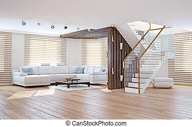 living room interior - Modern living room interior....