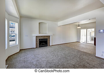 Living room interior in empty house