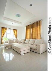 living room Interior - modern architecture contemporary,...
