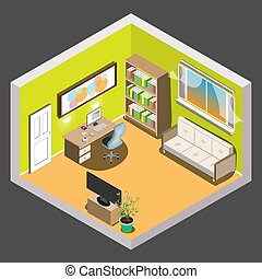 Living room isometric