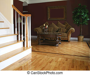 Living Room - Living room as seen from foyer; blank space in...