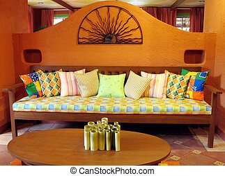 Mexican inspired Living room