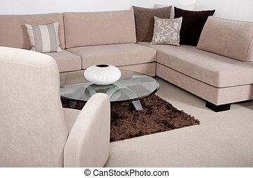 Living room modern home