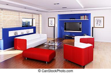 Living room modern style.