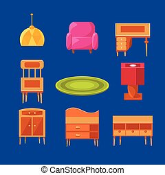 Living Room Objects Set