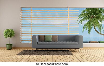 Living room of a holiday villa