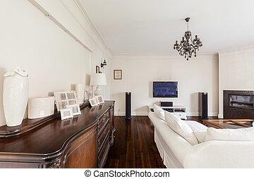 Living room of multigenerational family