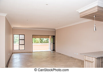 Living Room of Vacant House - A view of the living room of a...